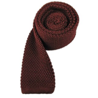 knitted burgundy ties