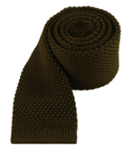 Ties - Knitted - Chocolate