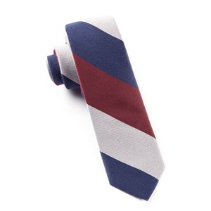 big wool stripe navy ties