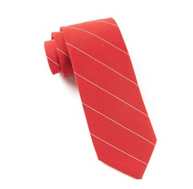 Apple Red Wool Stripe ties