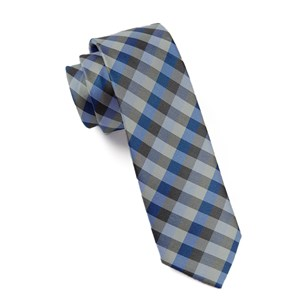 colorful gingham blues ties
