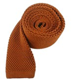Ties - Knitted - Rust