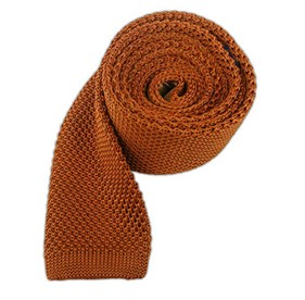 Rust Knitted ties
