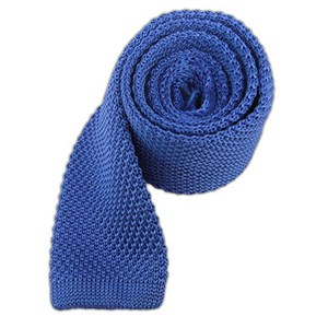 knitted light cornflower ties