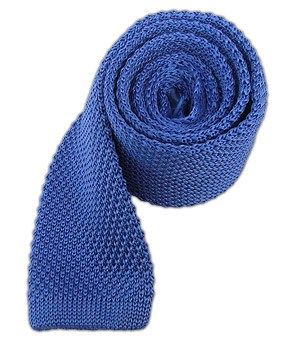 Light Cornflower Knitted Tie