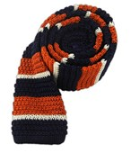 Ties - Knitted Accent Stripe - Navy