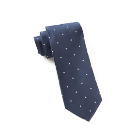 Satin Dot Classic Navy Ties