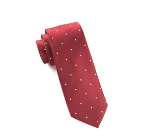 Burgundy Satin Dot ties