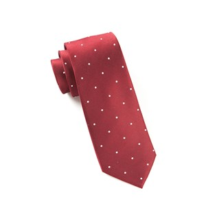 satin dot burgundy ties