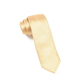 Skinny Solid Champagne Ties