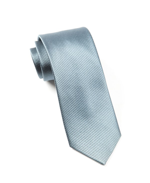 Skinny Solid Whale Blue Tie