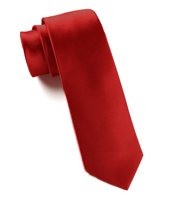 Solid Satin Red Tie