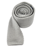 Ties - Knitted - Silver