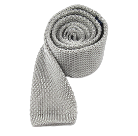 Silver Knitted ties