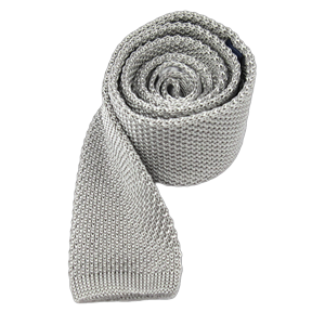 knitted silver ties