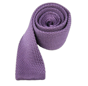 Lavender Knitted ties