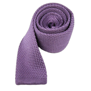 knitted lavender ties