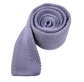 Lilac Knitted ties