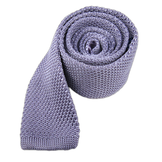 knitted lilac ties