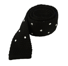 Black Knit Polkas ties