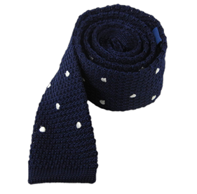 Blue Knit Polkas ties