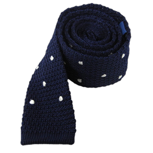knit polkas blue ties