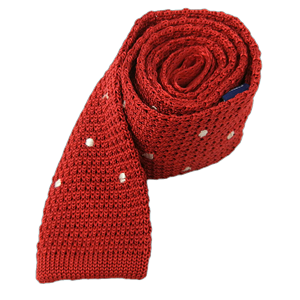 knit polkas apple red ties
