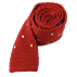 Apple Red Knit Polkas Tie - Apple Red Knit Polkas Tie primary image