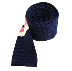 Blue Knit Ad Stripe ties