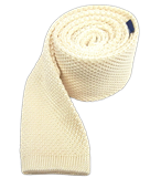 Ties - Knitted - Cream