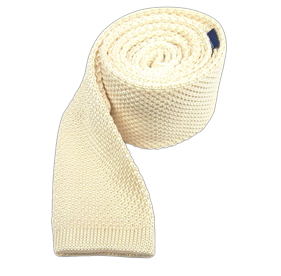 Cream Knitted ties