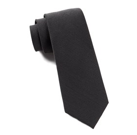 Metallic Grey Solid Wool ties