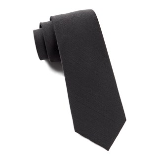 Solid Wool Metallic Grey Tie