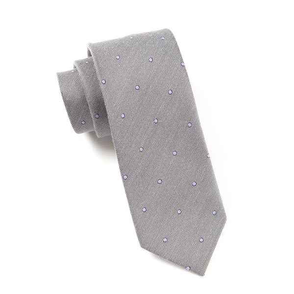 Charcoal Wool Dots Tie