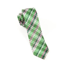 Kelly Green Plaiditude ties
