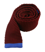 Ties - Tipped Knit - Red
