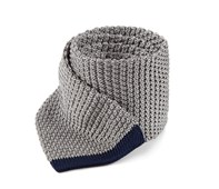 Ties - Tipped Knit - Grey