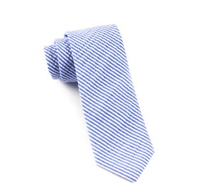 Blue Seersucker ties