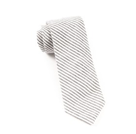 Seersucker Grey Ties