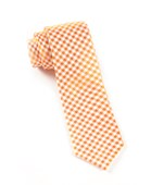 Ties - Checked Out - Orange