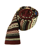 Ties - Knit Navajo - Red