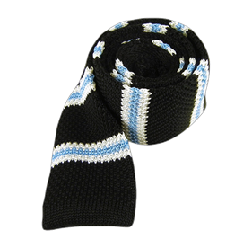 Black Knit Country Stripe ties