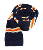 Ties - Knit Country Stripe - Navy