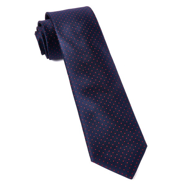 Matte Navy Mini Dots Tie