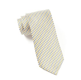 Yellow Mini Madras ties