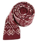 Ties - Knitted Knative - Raspberry