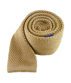 TIES - KNITTED - LIGHT CHAMPAGNE