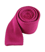 TIES - KNITTED - FUCHSIA