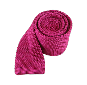 Fuchsia Knitted ties