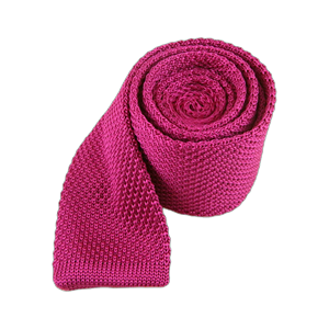 knitted fuchsia ties